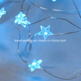 AA Batterie à batterie Ice Blue LED Light 50FT 200 ampoules LED Fairy Light String Holiday for Outdoor