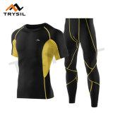 La forma fisica di riciclaggio del vestito di sport della camicia/ghette di compressione di usura supera ed ansima i vestiti per i Mens