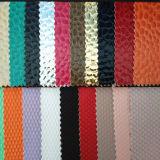 Cuir synthétique de bonne qualité pour les chaussures ou les sacs (HTS016)
