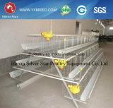 Cage Breeding galvanisée de couche de batterie de ferme de poulet avec alimenter automatique