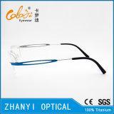 Leichter randloser Titanbrille Eyewear optische Glas-Rahmen mit Scharnier (5001) - C
