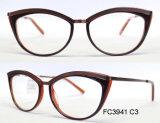 Bâti optique d'acétate neuf pour Madame avec le bâti de lunetterie en métal (ce)