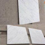 Mattonelle bianche di Carrera dell'alta parete di marmo di Quanlity