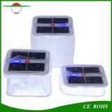 표시등 태양 수영풀 램프, 비상사태 태양 야영 빛을%s 가진 입방체 PVC 팽창식 태양 손전등 10LED
