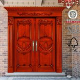 別荘の前部出入口の正面玄関の木のドア(GSP1-004)