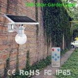 lumière actionnée solaire de jardin de 12W DEL avec le panneau réglable