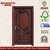 Portello di legno dell'entrata classica della noce nera (GSP2-024)