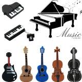 楽器モデルUSBのフラッシュバイオリンかピアノまたはギターのペン駆動機構