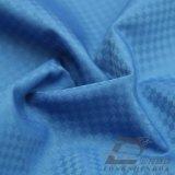 agua de 75D 270t y de la ropa de deportes tela fantasma tejida chaqueta al aire libre Viento-Resistente 100% de la pongis del poliester del telar jacquar de la tela escocesa abajo (E151)