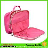 大きい容量の方法実用的なピンクの二重ジッパーの装飾的な袋によってカスタマイズされるロゴ