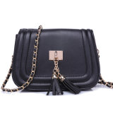 Hot Girl Mulheres Lady Metal Chain Tassel Hobo Bag