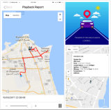 Perseguidor do táxi do GPS com tecla do SOS e sustentação livre M528n do APP
