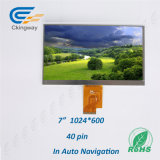 "7 "" resolución 1024*600 TFT LCD"