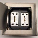 Panel-wasserdichter Fußboden-Kontaktbuchse-Kontaktbuchse-Anschluss der Alluminum Legierungs-145*145mm