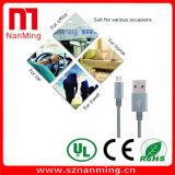 Le cordon micro de chargeur de synchro de caractéristiques de câble usb a tressé