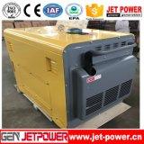 Gerador Diesel refrigerado a ar silencioso portátil do gerador 5.5kVA da fase monofásica