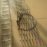 フェルールか結ばれたステンレス鋼ケーブルの動物園の網