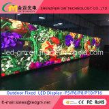 Pantalla al aire libre de Digitaces LED de la electrónica, calle que hace publicidad de la visualización de LED P10