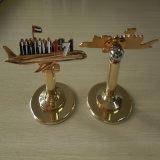 習慣はアラブ首長国連邦第45国家的記念日のギフト項目金属の折りえりPinの月のバッジを作る