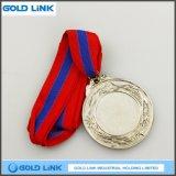 Récompense faite sur commande de moulage de sports de pièces de monnaie de médailles de médaille de médaille d'argent de lanière chaude