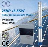 25HP 18.5kw 6in versenkbare Solarpumpe, tiefe wohle Pumpe