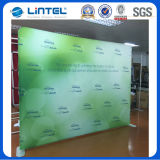 Portátil de alumínio Round Tube Banner Stands Backwall Display