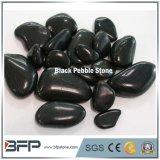 los 3-5cm piedra natural Polished negra del adoquín y del guijarro