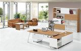 현대 베니어 금속 프레임 행정상 테이블 멜라민 컴퓨터 테이블