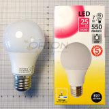 2 da garantia 7W E27 anos de bulbo A60 do diodo emissor de luz