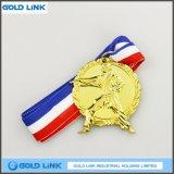Médaillon fait sur commande découpé avec des matrices de souvenir de pièce de monnaie de gravure de la médaille 3D en métal de judo