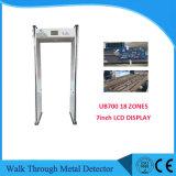 Multi Zonen-Metalldetektor-Karosserien-Scanner mit 7inch LCD Bildschirm Ub700