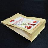 편평한 바닥은 주머니 알루미늄 호일 Zip 자물쇠 1회분의 커피 봉지 Kraft 종이 박판으로 만들어진 강직한 음식 비닐 봉투를 위로 서 있다