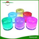 Lumière campante extérieure imperméable à l'eau solaire légère changeante de lanterne 10 DEL de couleur rechargeable gonflable pliable d'énergie solaire de Portbale