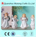 Piccoli Figurines miniatura di angelo del bambino di generi della resina 4 per le decorazioni domestiche