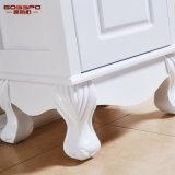 Governo impermeabile bianco di vanità della stanza da bagno di legno solido della vernice (GSP14-007)
