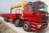 De Vrachtwagen van Shacman 8*4 met de Kraan van de Lading 12 Ton van de vrachtwagen-Opgezette Kraan