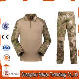 Juego táctico uniforme de la rana del ejército (camisa + pantalones) con las rodilleras