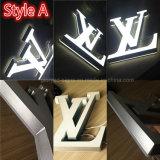 DEL extérieure 3D marque avec des lettres signe extérieur extérieur de signe le meilleur