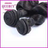 Cabelo humano cambojano frouxo do Virgin do Weave 100% do cabelo da onda da alta qualidade