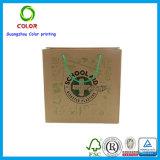 Réutiliser le sac à provisions pliable de papier fait sur commande