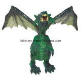 Jouets en plastique de gosse de dragon de dessin animé de Polyresin de mini dinosaur respectueux de l'environnement de mouche
