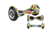 Pouces chaud global de Smartek 10 Individu-Équilibrant le scooter Patinete Electrico Bluetooth Hoverboard Segboard de graffiti de Hiphop de deux roues avec le contrôleur éloigné S-002
