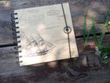 Тетрадь бумаги Kraft закрытия ландшафта эластичная спиральн