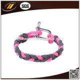 Hotsale Plastic Buckle Paracord Bracelet con Logo Engraved (HJ-7011)