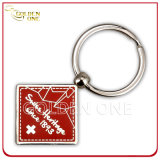 Best Seller Printable Rectangular Shape Metal & Leather Key Chain