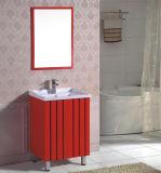 Eenvoudige Vloer die het Kabinet van pvc met Spiegel bevinden zich