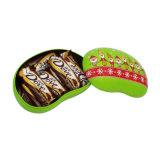 Boîte de bidon de cadeau de thé de biscuit de chocolat d'haricot (B001-V13)