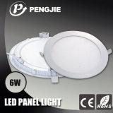 O melhor preço 6W dilui a luz de painel do diodo emissor de luz (redonda)