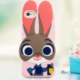 Caixa do telefone móvel do silicone com teste padrão dos desenhos animados de Zootopia Judy 3D