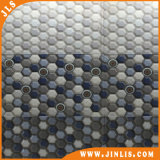 파란 단계변화 6각형 모자이크 패턴 목욕탕 세라믹 벽 도와
